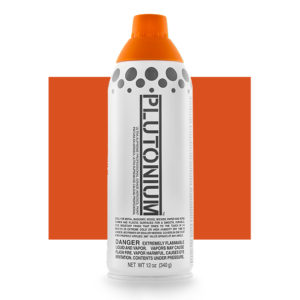 Pumpkin Color Swatch - Plutonium Spray Paint