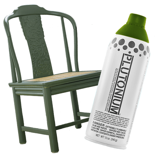 Plutonium Paint Munko is used to paint a chair.