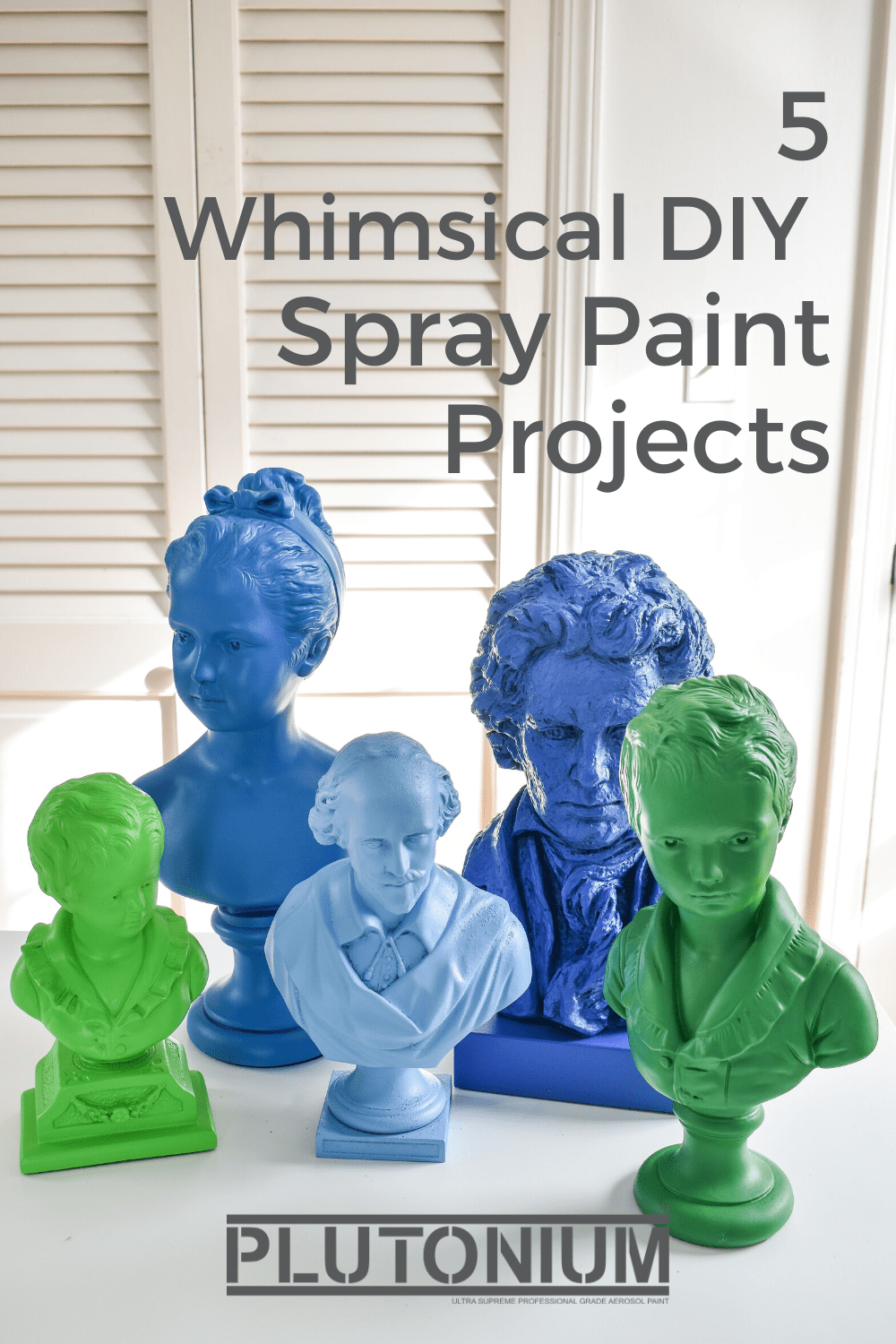 Want a little inspiration on what to create? Take a look at these awesome and whimsical DIY spray paint projects created by some of our favorite DIY bloggers. These are inexpensive DIY and easy spray paint projects. Get step-by-step instructions on these spray paint crafts and spray paint projects, most of them use thrift store finds! #plutoniumpaint #spraypaintcraft #spraypaintprojects #thriftstorediy