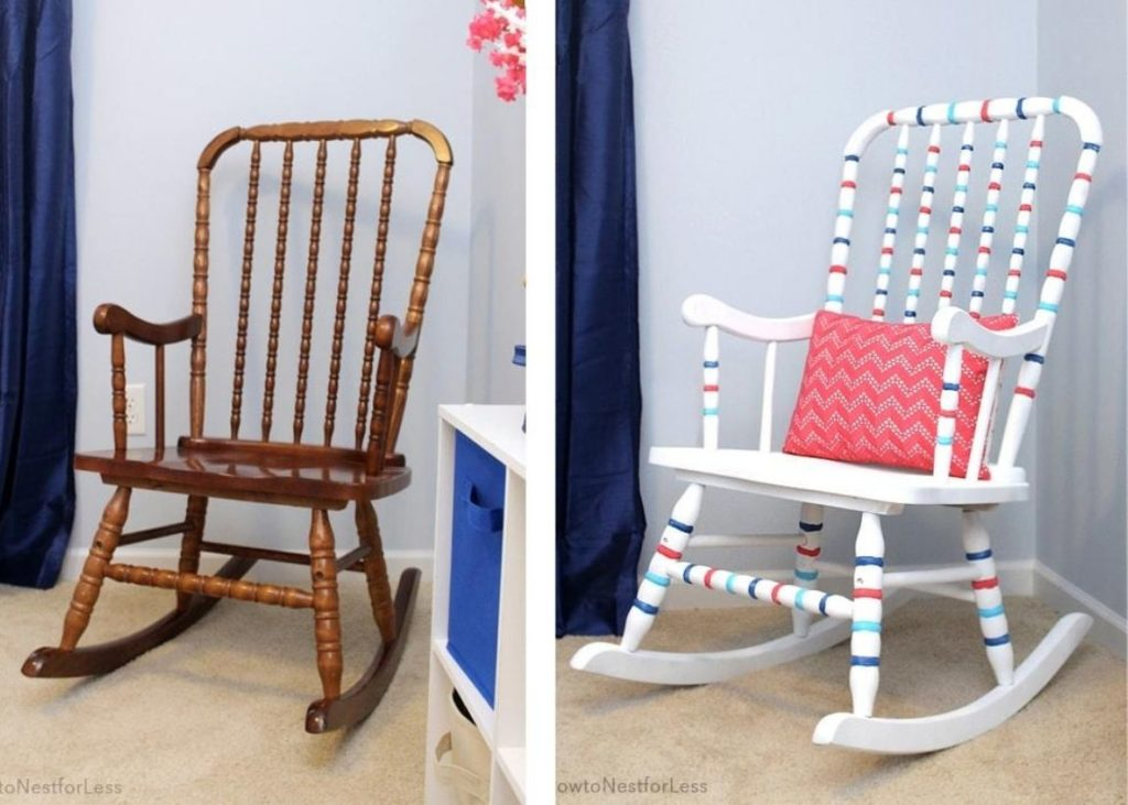 Have an old chair? Take a look at these awesome spray paint chair makeovers. Using Plutonium Spray Paint, these DIY bloggers updated a few beat up chairs and created beautiful, updated new spray painted chairs. Plutonium Spray Paint is the best spray paint for furniture as it coats better, dries fast, and sprays more directly. #plutoniumpaint #spraypaintchairs #spraypaintfurniture #spraypaintDIY