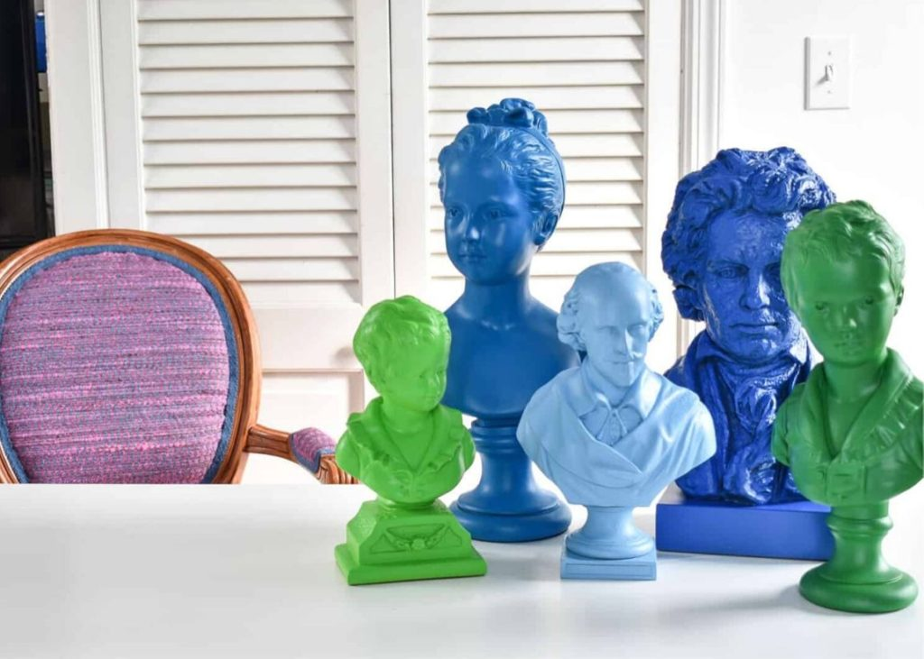 Whimsical DIY Spray Paint Projects - Busts