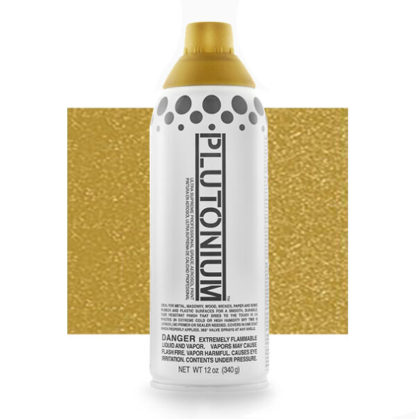 Product Image for Plutonium Paint 1st Place Gold Metallic Spray Paint