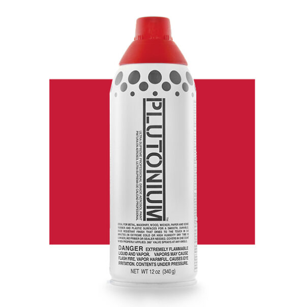 Product Image for Plutonium Paint Red Alert Spray Paint