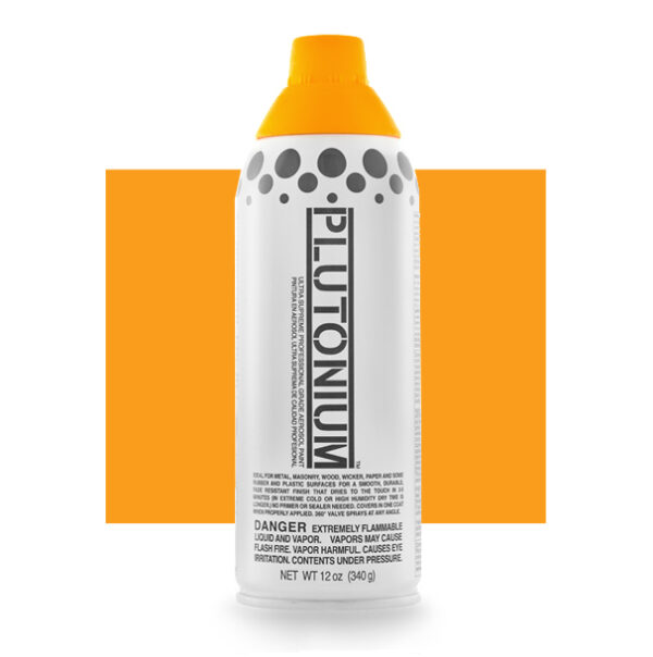 Product Image for Plutonium Paint Sunny D Yellow Orange Spray Paint