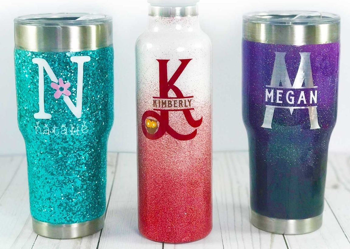 New Year's Resolution Get Creative. Glitter Tumblers
